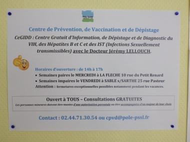 Dépistage gratuit du VIH et des infections sexuellement transmissibles à Sablé et La Flèche : prochaines permanences