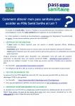 Mise en place du Pass sanitaire au Pôle Santé Sarthe et Loir